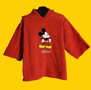 Disney Hoodie Mickey Mouse Pullover Sz L